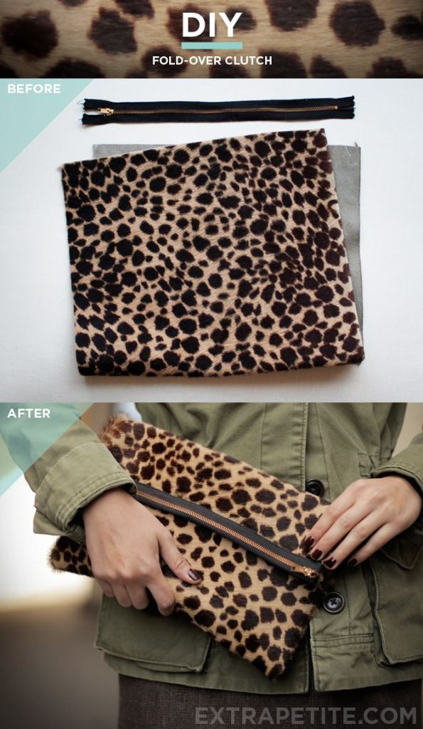 DIY Fold Over Clutch from Extra Petite