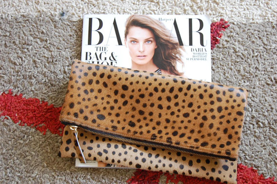 MimicDesign Leopard Clutch via Etsy