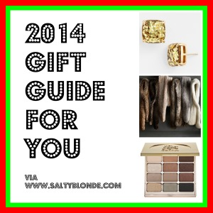 2014 Gift Guide for You