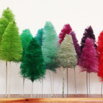 Handmade Christmas Bottle Brushes