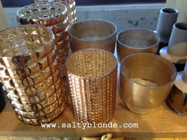 West Elm Gold Display