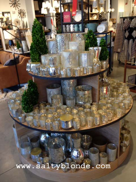 West Elm Mercury Glass Display