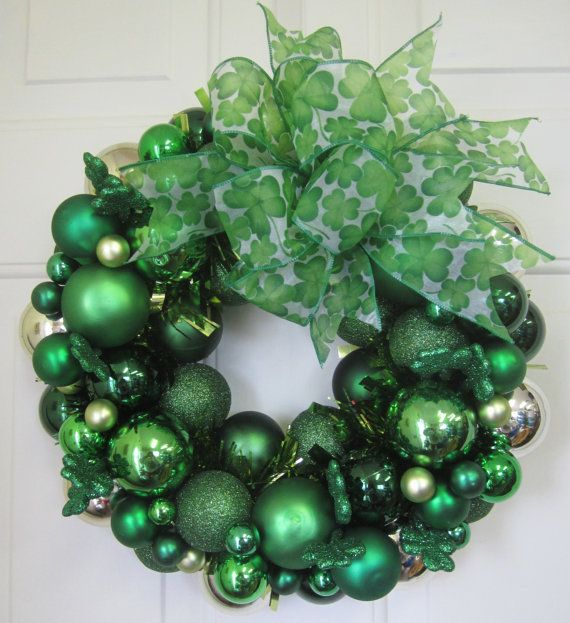 Christmas Ornament St Patricks Day Wreath
