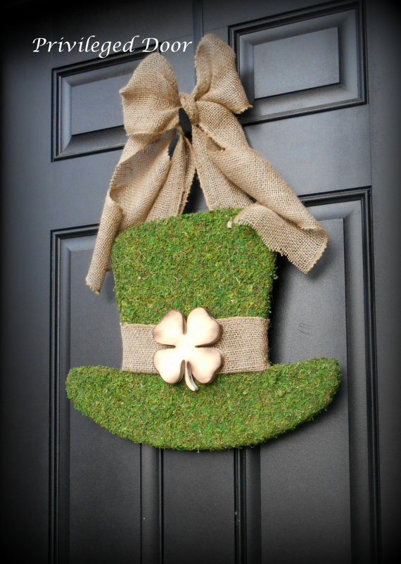 Privileged Door St Patricks Day Wreath