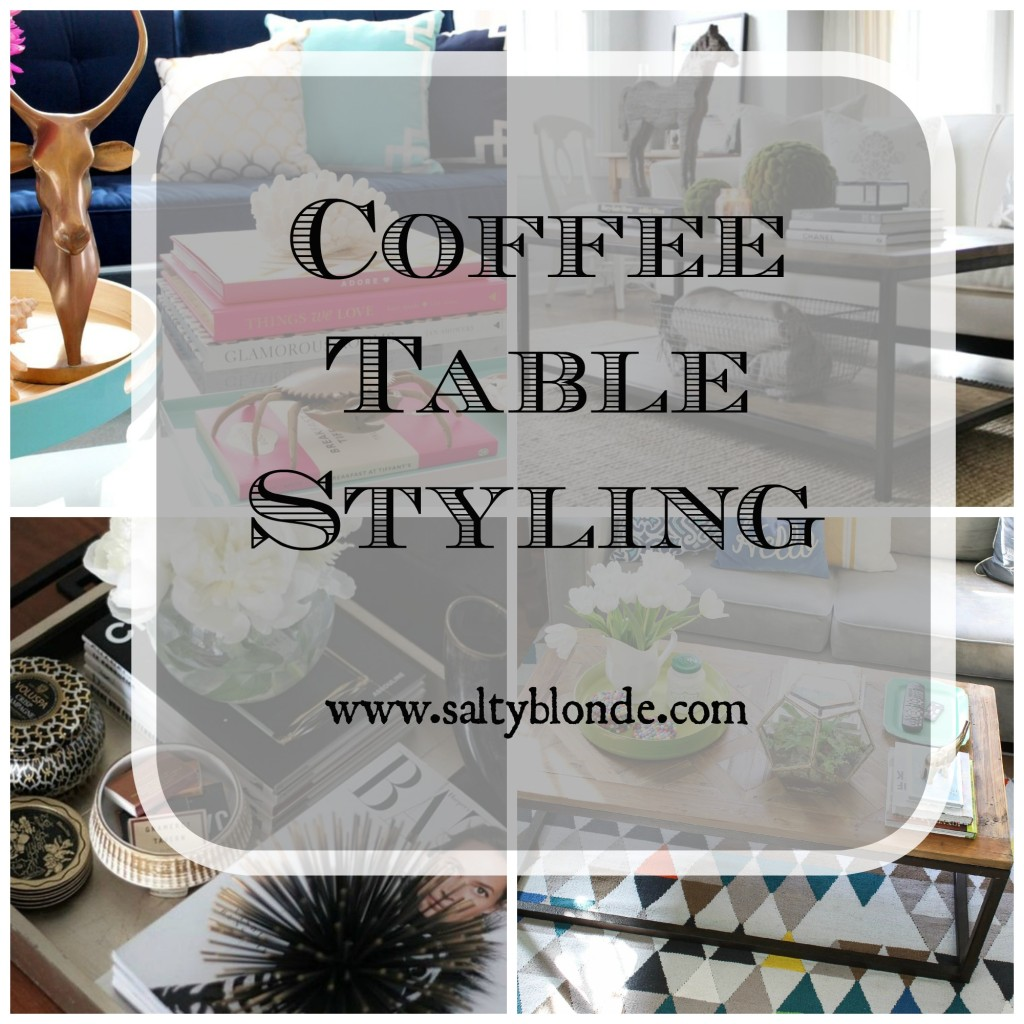 Coffee Table Styling via www.saltyblonde.com