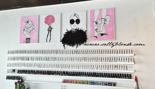 Dallas Beauty Lounge Polish Wall via www.saltyblonde.com