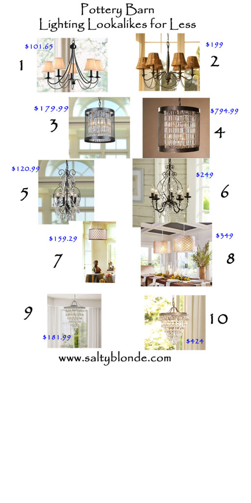 Pottery Barn Lighting Lookalikes Roundup
