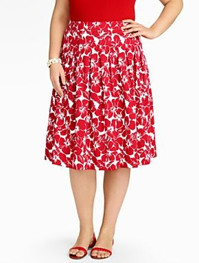 Red and White Skirt