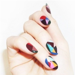 Best Geometric Nail Art via www.saltyblonde.com