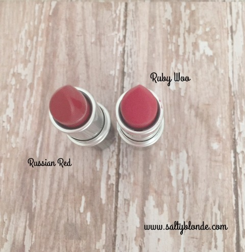 Macs Ruby Woo vs Russian Red