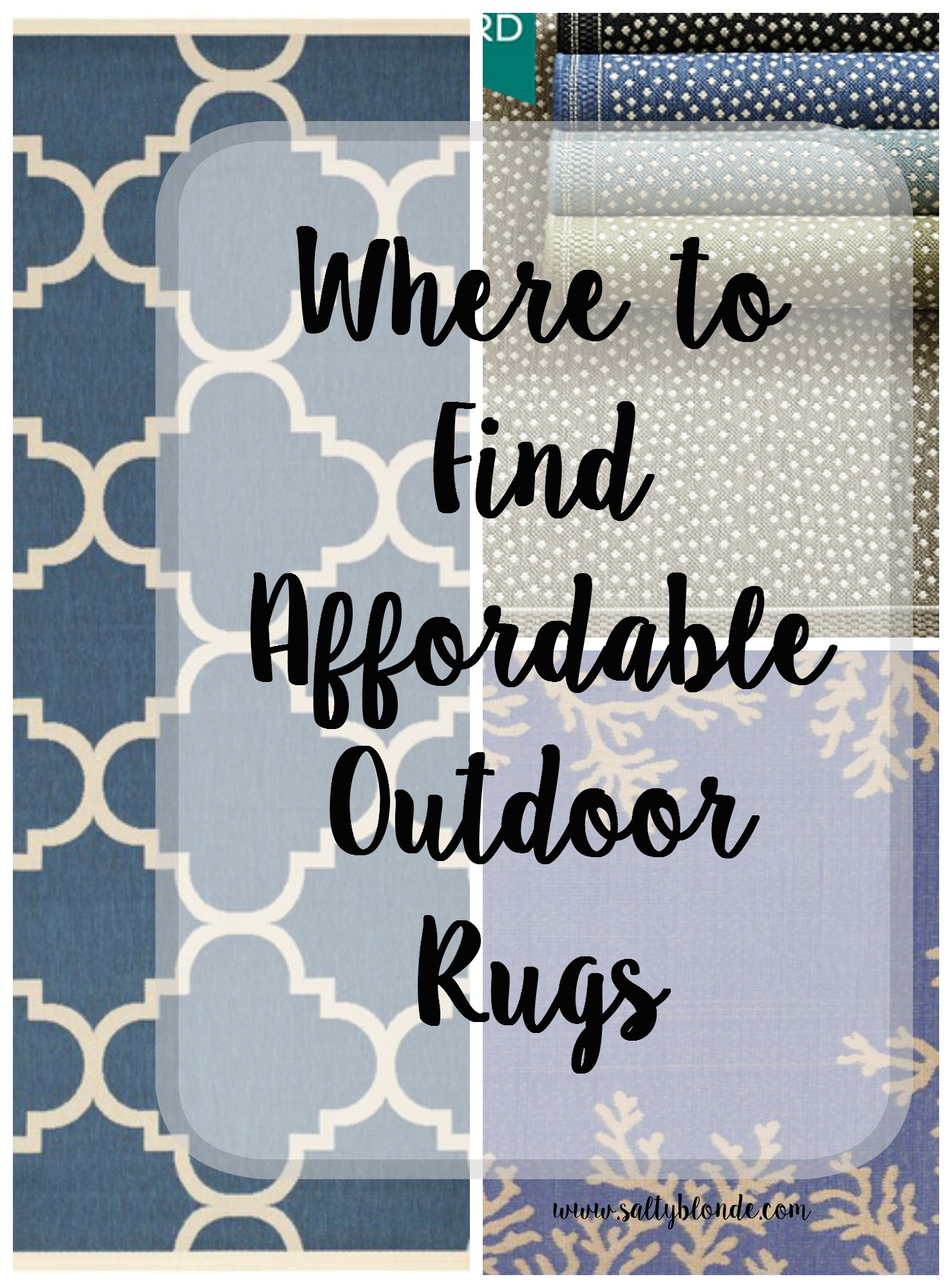 Affordable Outdoor Rugs Salty Blonde Salty Blonde