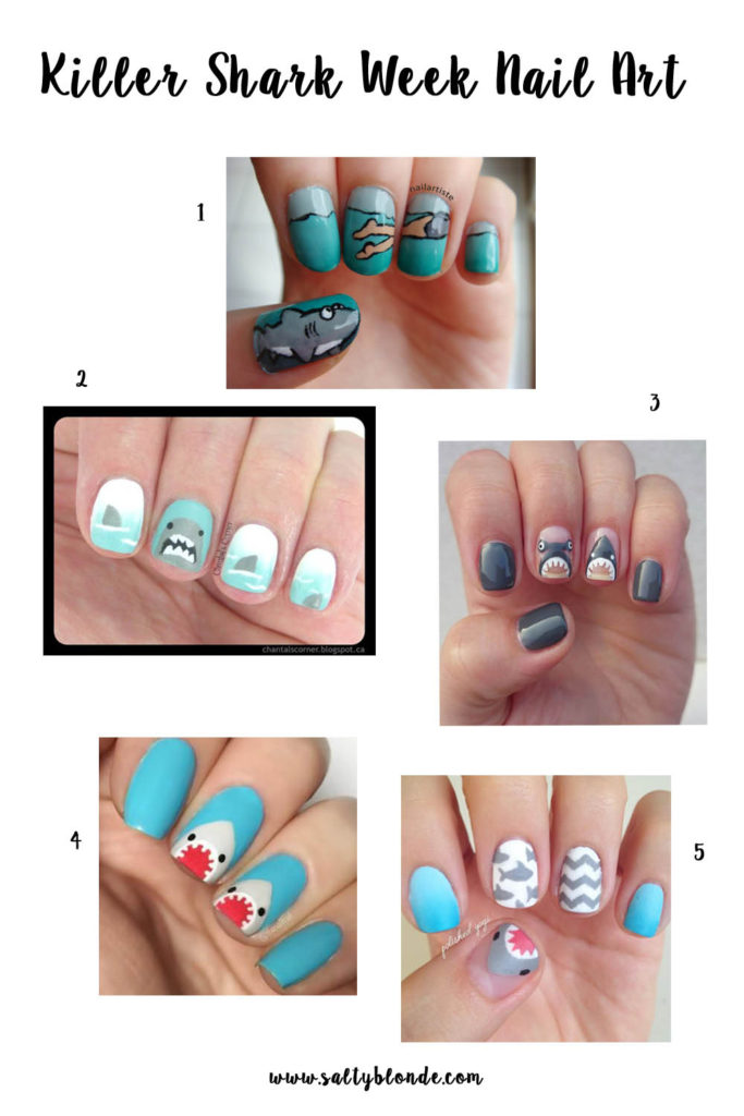 Killer Shark Week Nail Art