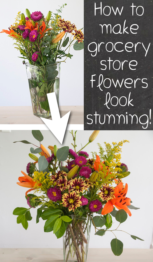 Make Grocery Store Flowers Amazing