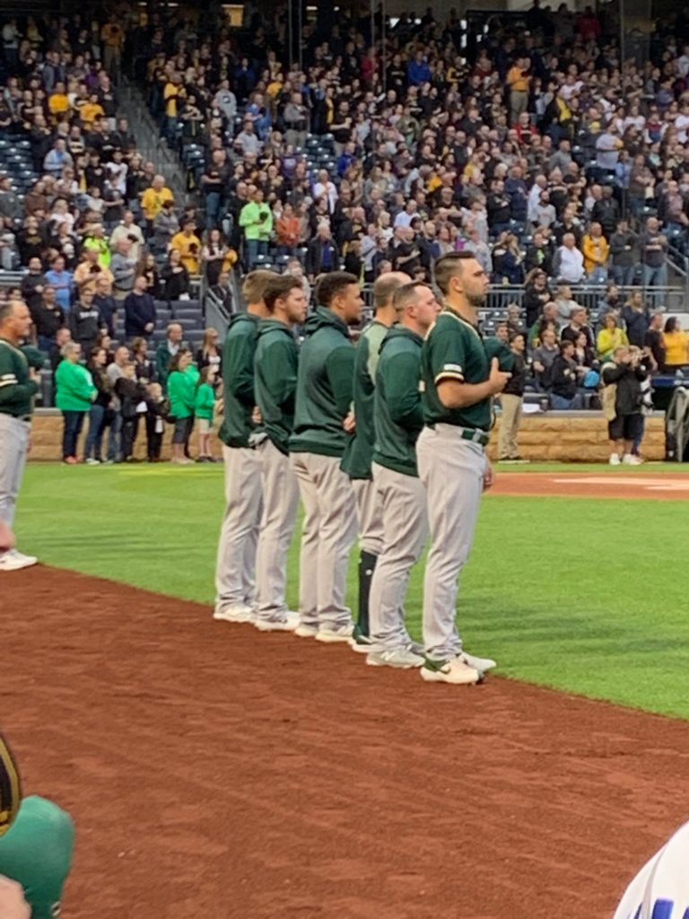Oakland A's at Pittsburgh Pirates National Anthem