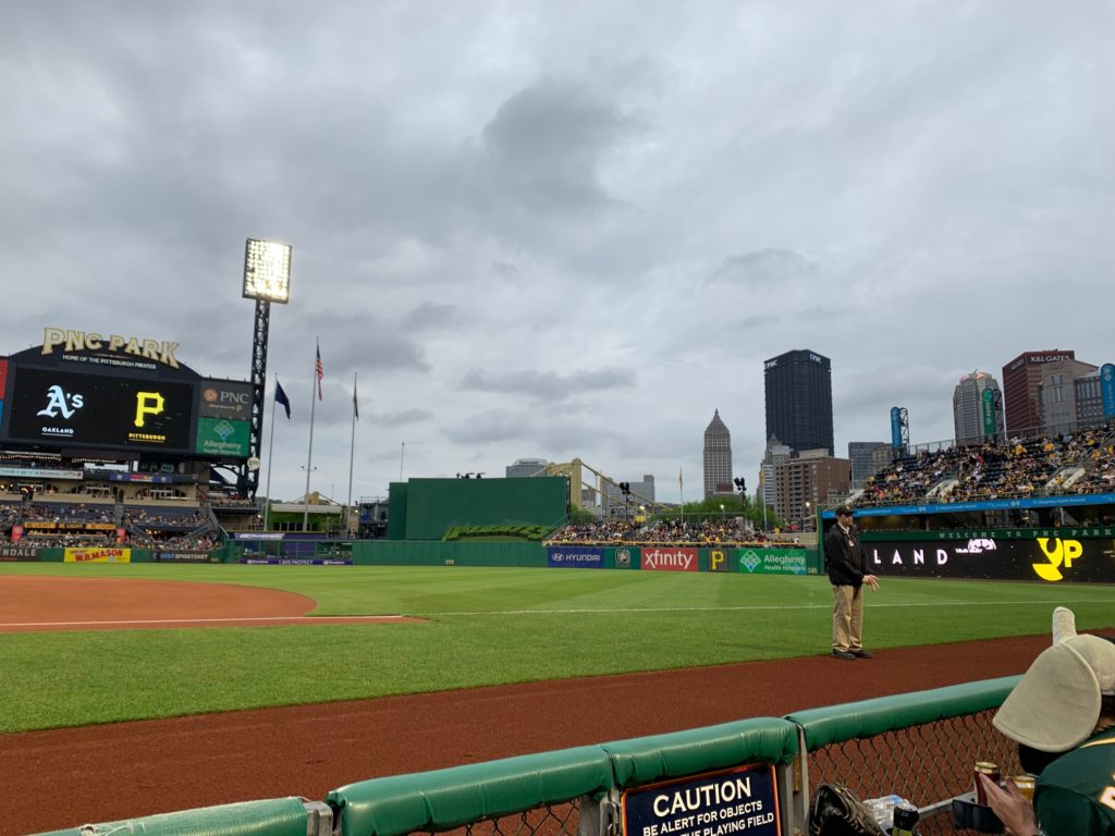 Clouds rolling into PNC Park